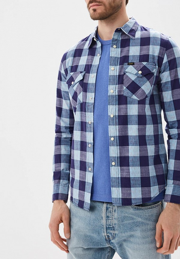 Купить Рубашка Lee, LE807EMBOGY6, синий, Осень-зима 2018/2019