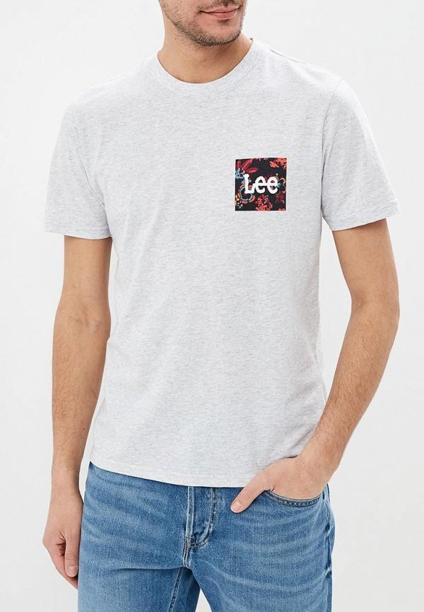 мужская футболка lee, серая