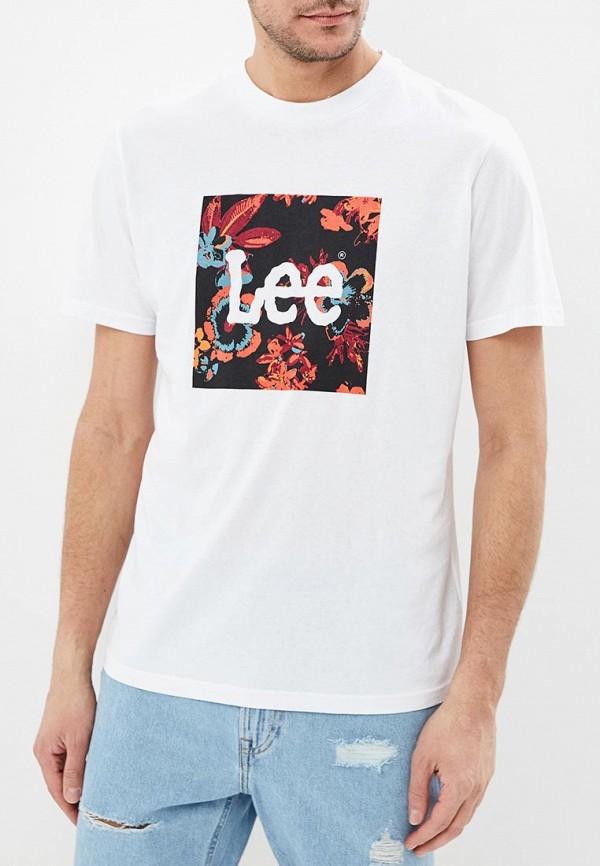 мужская футболка lee, белая