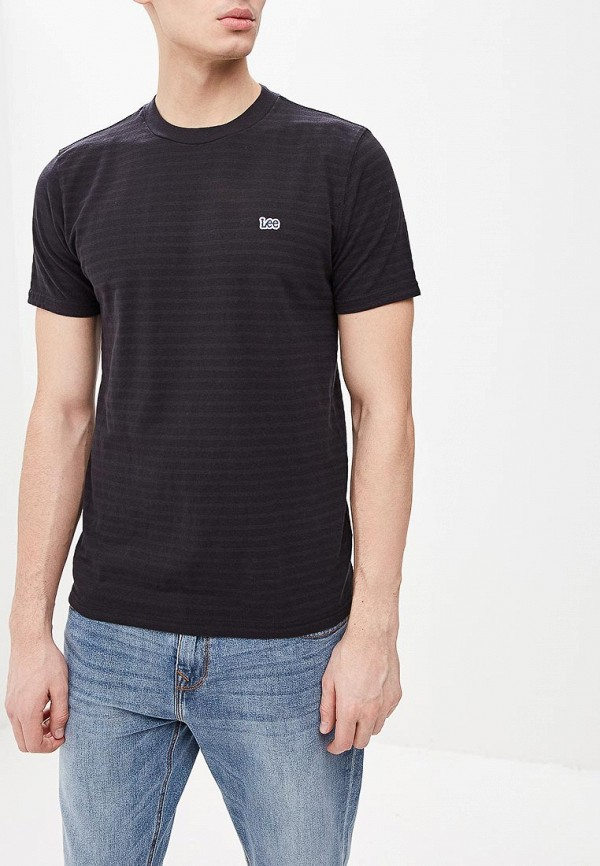 мужская футболка с коротким рукавом lee, черная