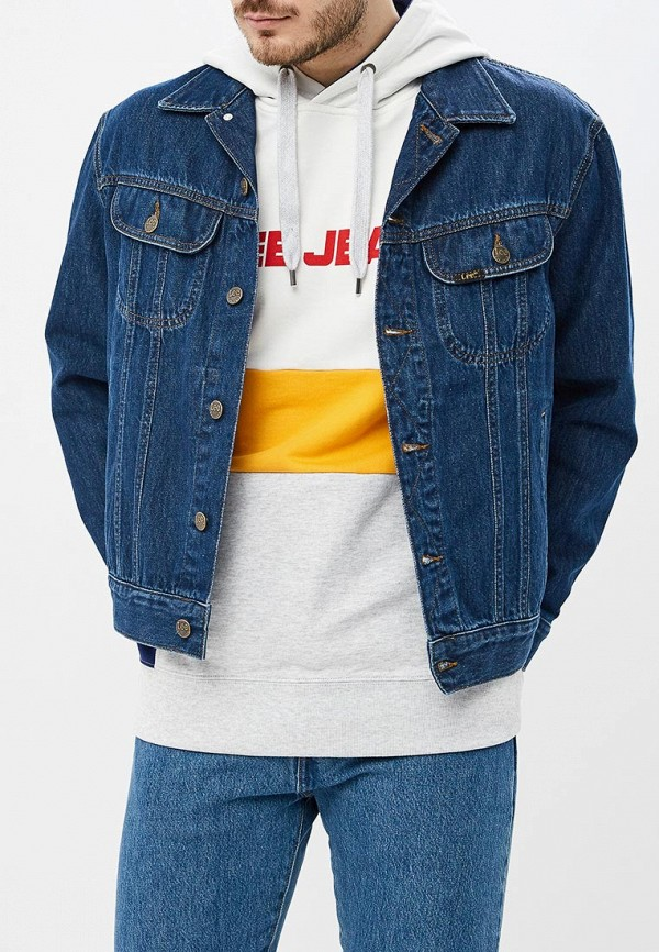 мужская джинсовые куртка lee, синяя