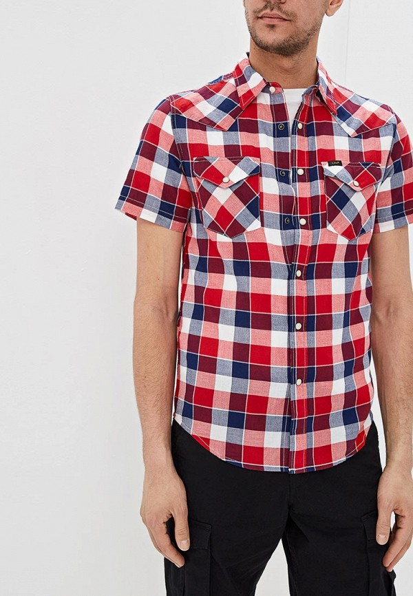 мужская рубашка с коротким рукавом lee, разноцветная