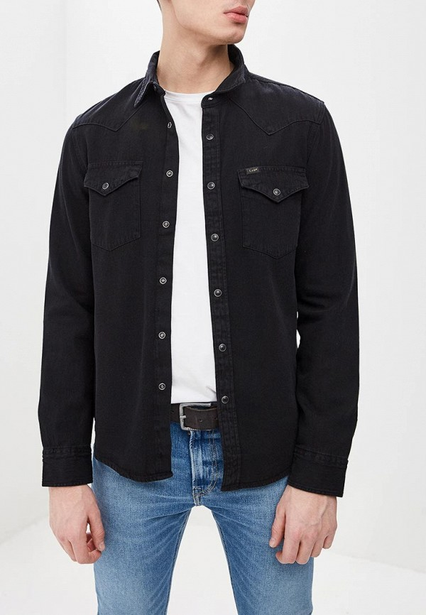 мужская джинсовые рубашка lee, черная