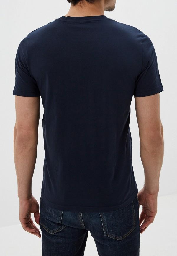 Фото 3 - Мужскую футболку Lee синего цвета
