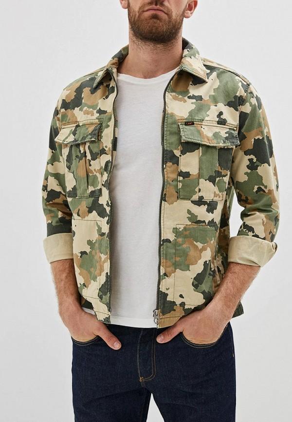 мужская джинсовые куртка lee, разноцветная