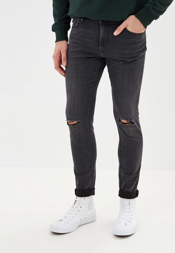 мужские зауженные джинсы lee, черные