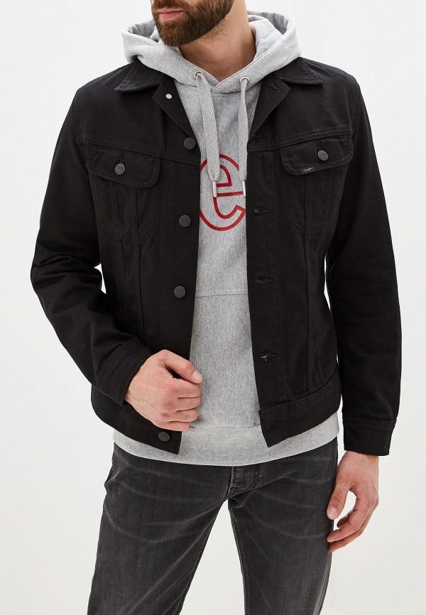 мужская джинсовые куртка lee, черная