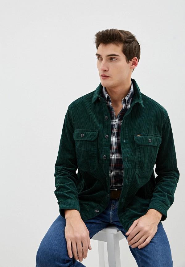мужская рубашка с длинным рукавом lee, зеленая