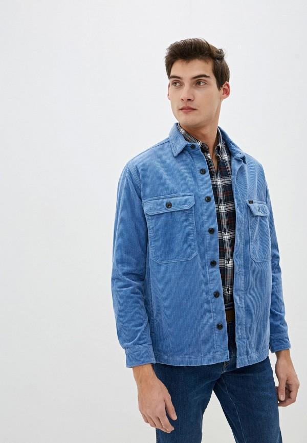 мужская рубашка с длинным рукавом lee, голубая