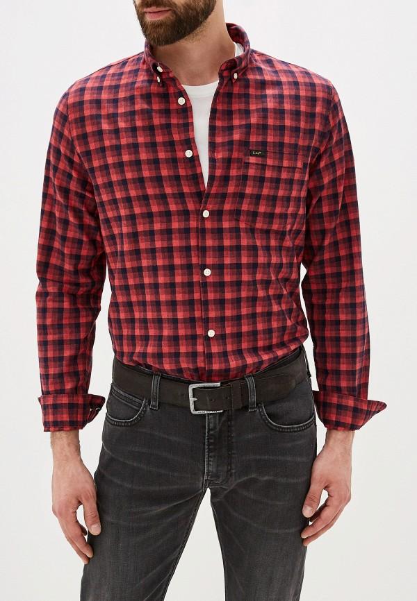 мужская рубашка lee, красная