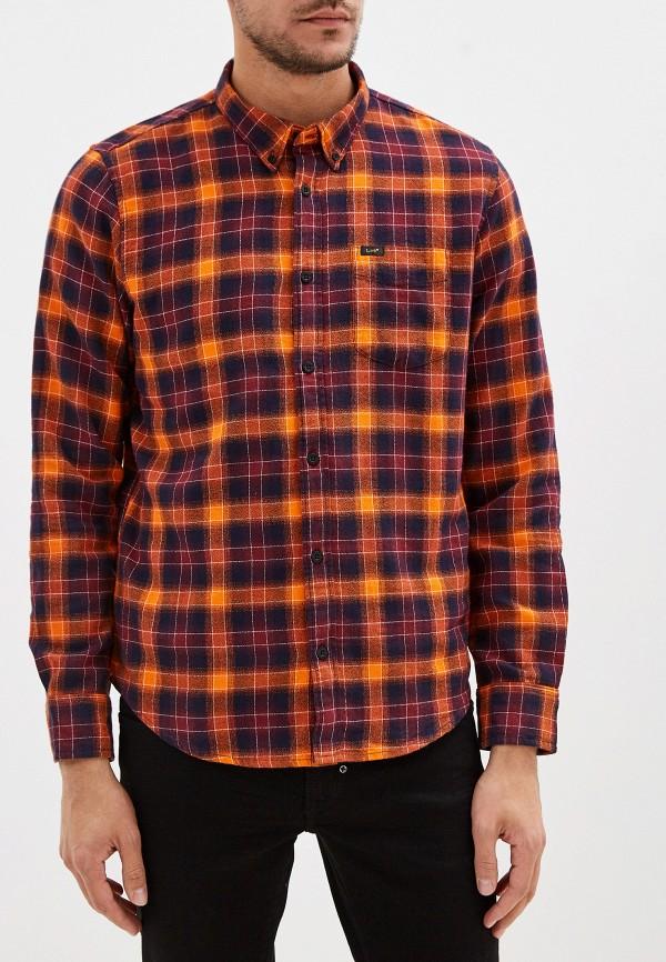 мужская рубашка с длинным рукавом lee, оранжевая