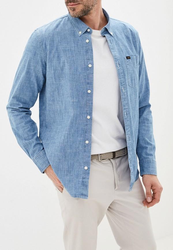 мужская рубашка lee, голубая