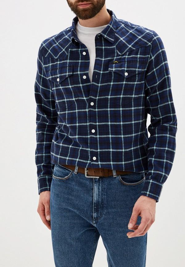 мужская рубашка с длинным рукавом lee, синяя