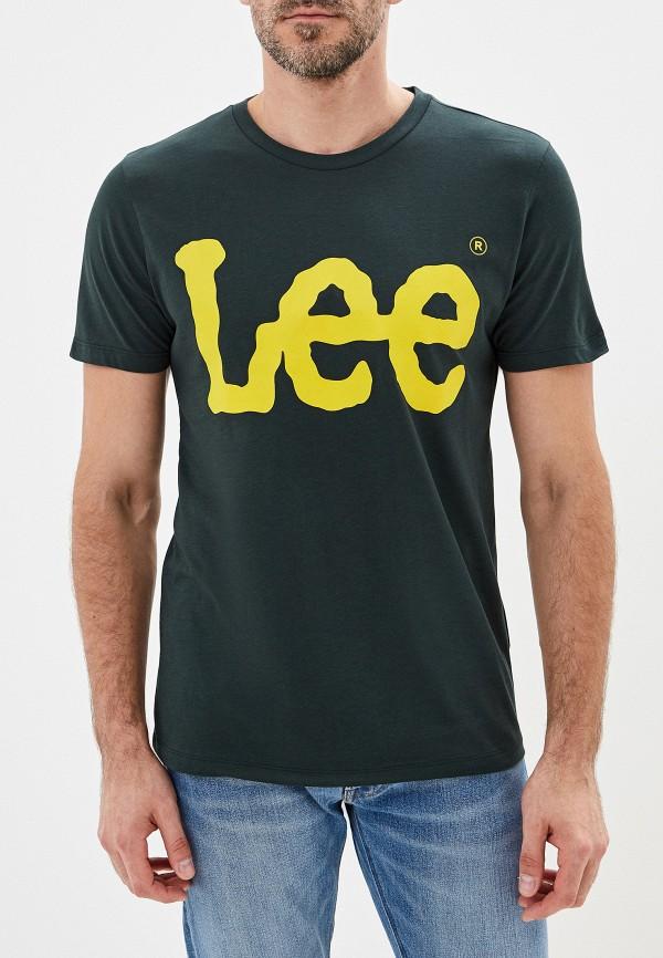 мужская футболка lee, зеленая