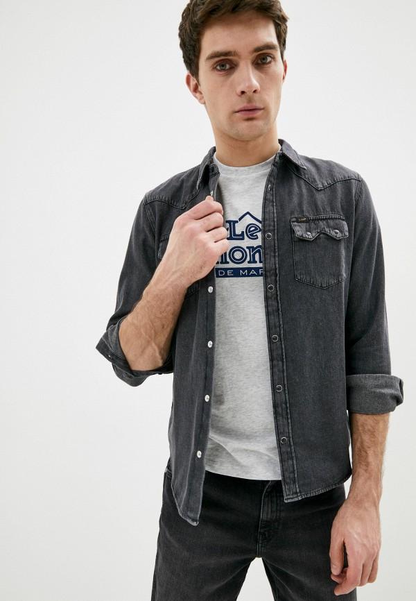 мужская джинсовые рубашка lee, серая