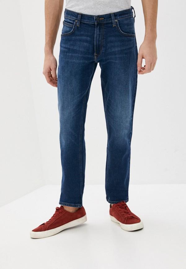мужские прямые джинсы lee, синие
