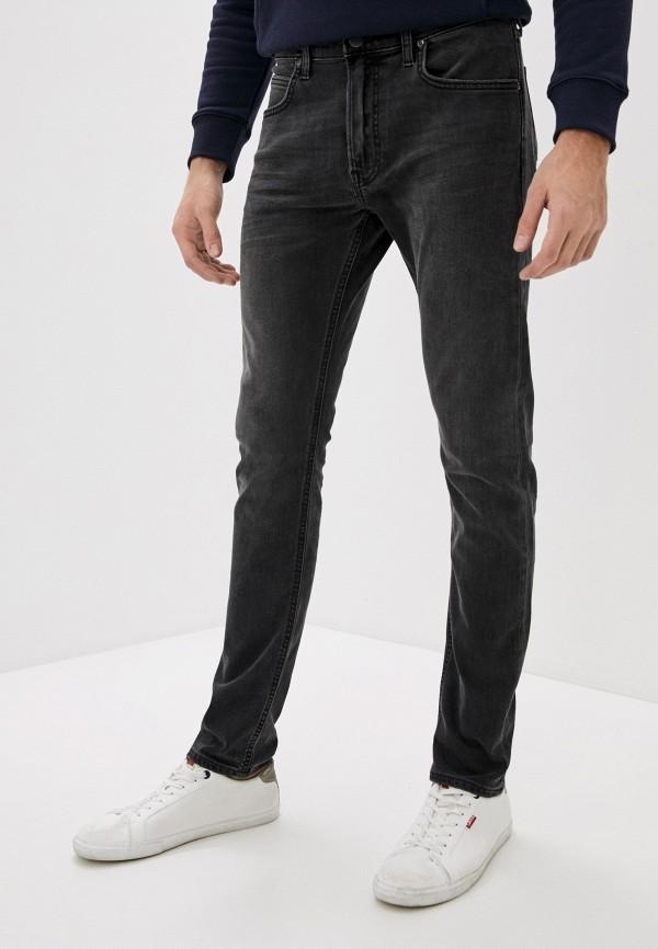 мужские зауженные джинсы lee, серые