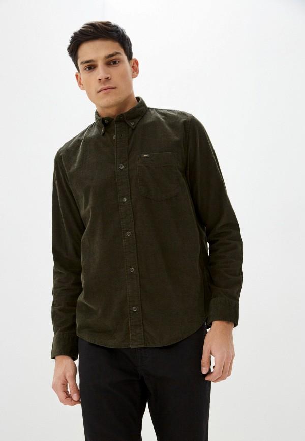 мужская рубашка с длинным рукавом lee, хаки
