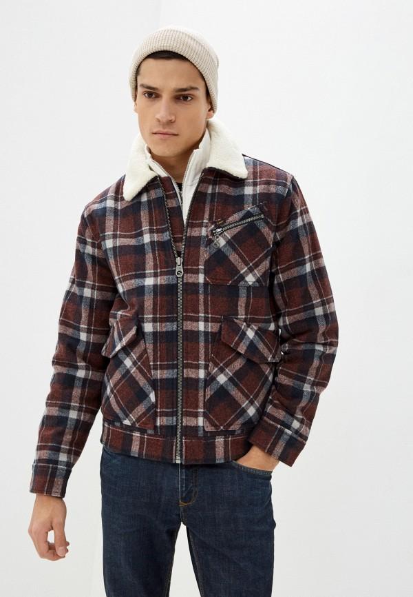 мужская куртка lee, бордовая