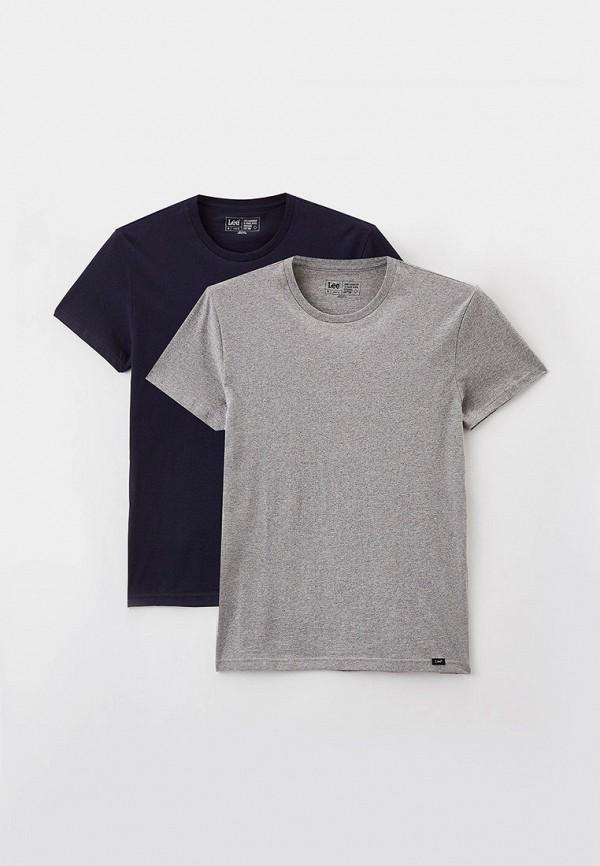 мужская футболка с коротким рукавом lee, разноцветная