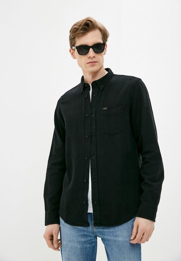 мужская рубашка с длинным рукавом lee, черная