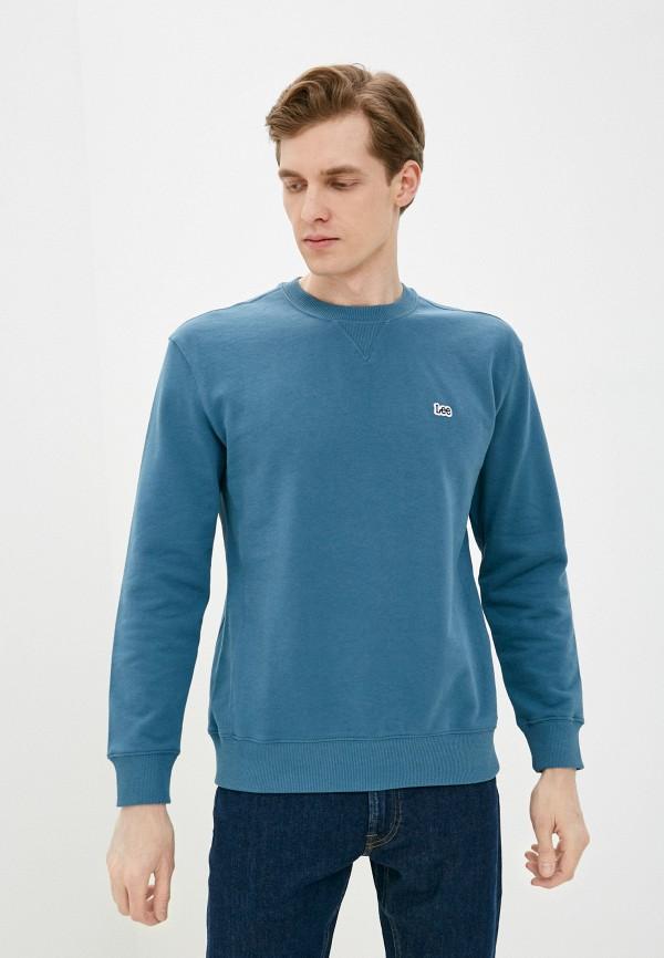 мужской свитшот lee, голубой