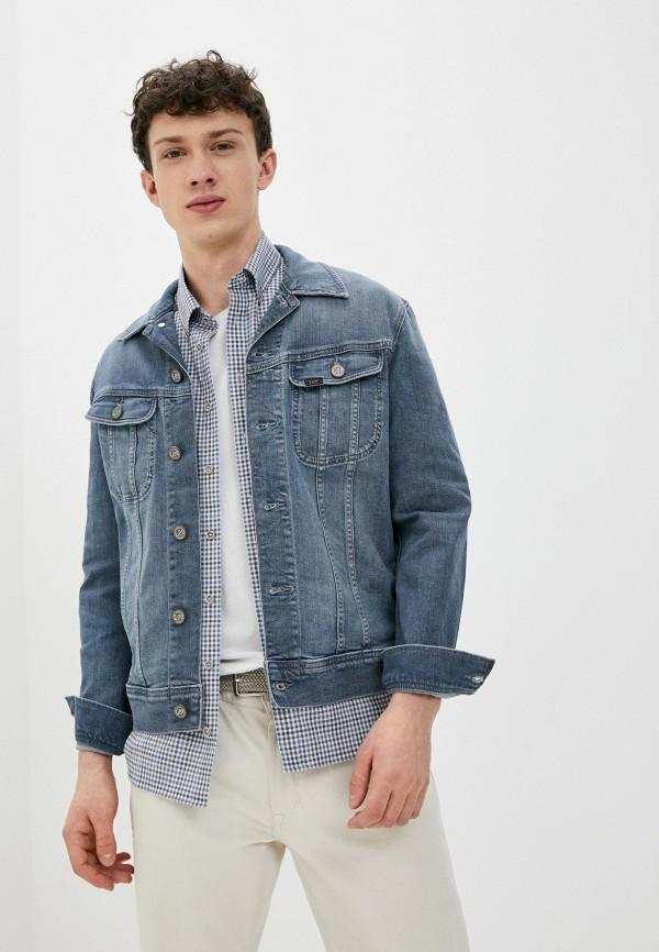 мужская джинсовые куртка lee, серая