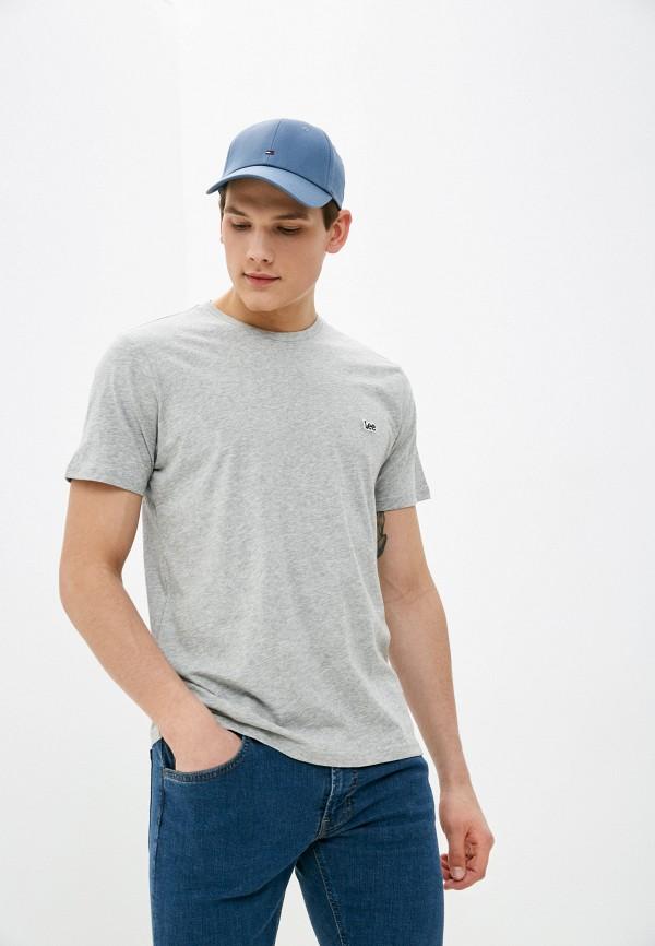мужская футболка с коротким рукавом lee, серая