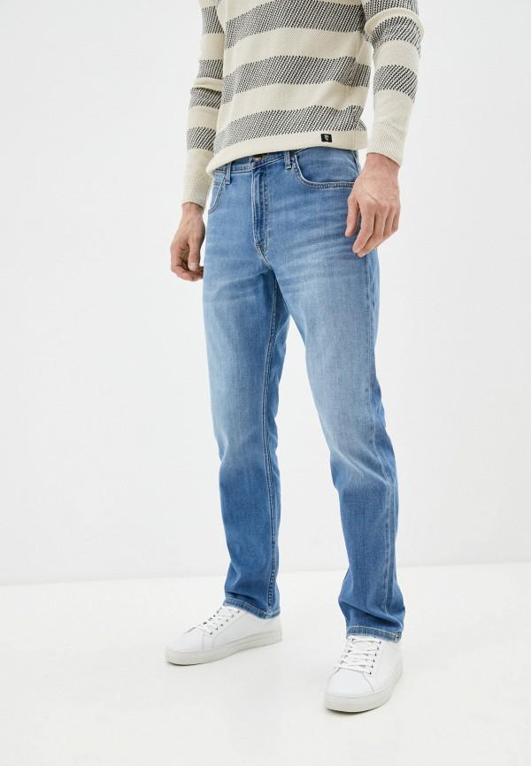 мужские прямые джинсы lee, голубые