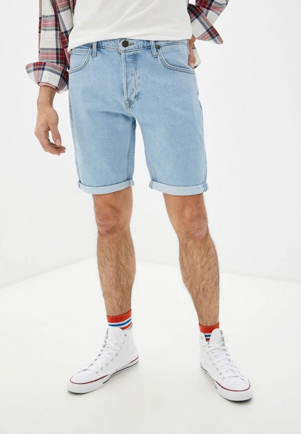 мужские джинсовые шорты lee, голубые