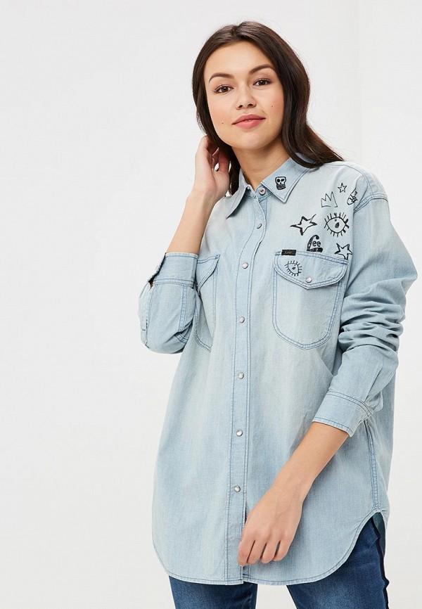 Рубашка джинсовая Lee Lee LE807EWBOGQ3 рубашка джинсовая dshe dshe mp002xw1av4c