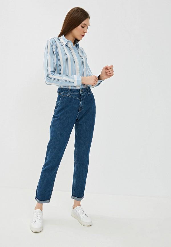 Фото 2 - Женскую рубашку Lee голубого цвета