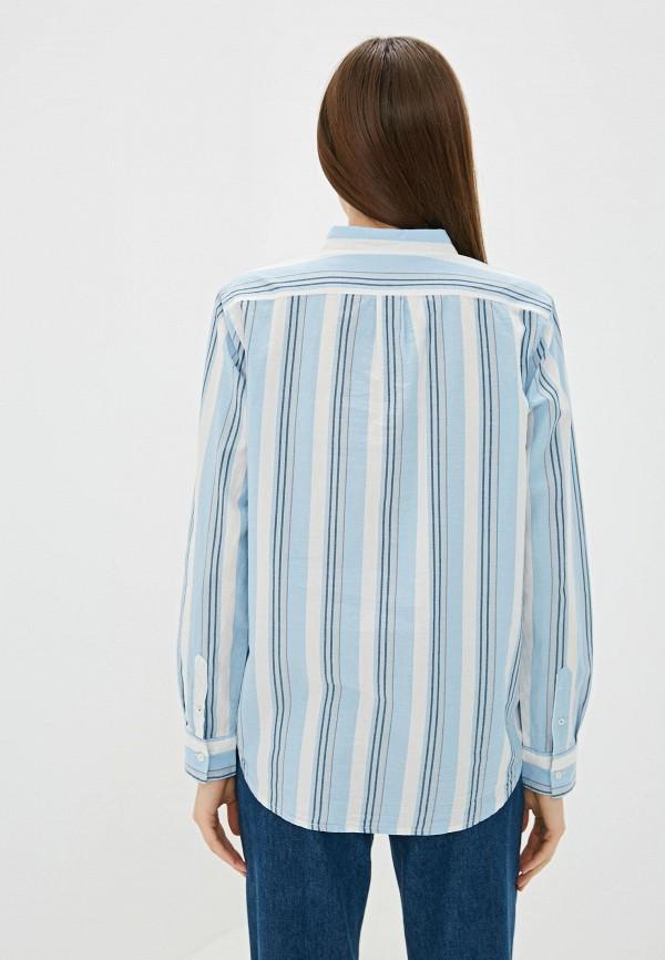 Фото 3 - Женскую рубашку Lee голубого цвета