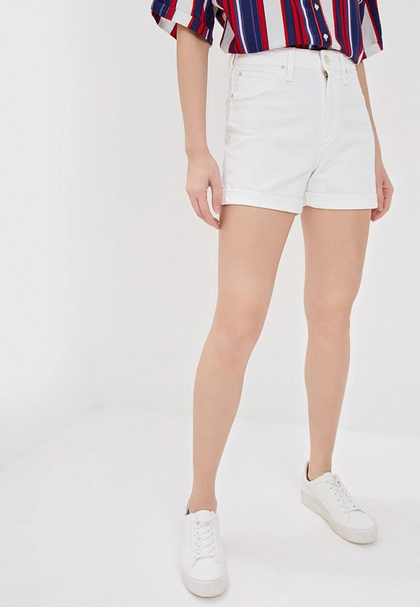 женские джинсовые шорты lee, белые