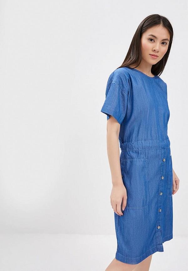 женское джинсовые платье lee, синее
