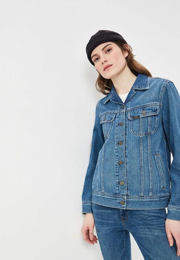 Купить Куртка джинсовая Lee, le807ewdqoe5, синий, Весна-лето 2019