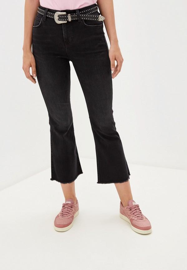 женские джинсы клеш lee, черные