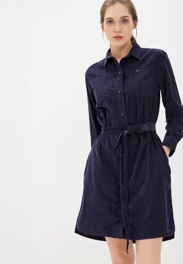 женское платье lee, синее