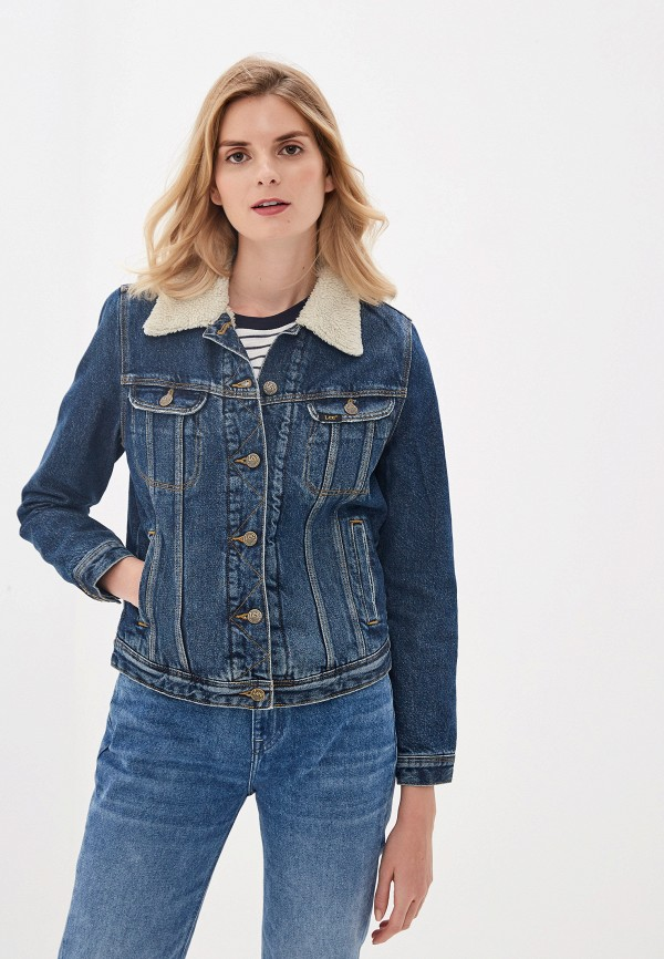 женская куртка lee, синяя