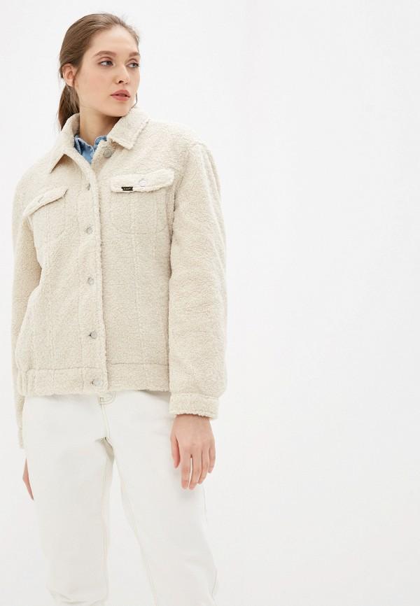 женская куртка lee, белая