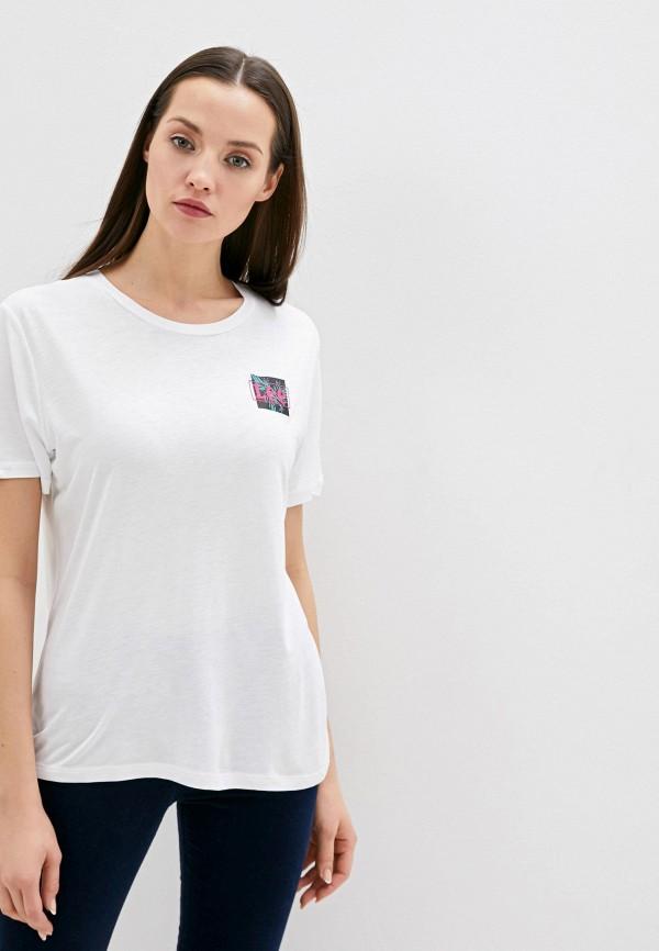 женская футболка lee, белая