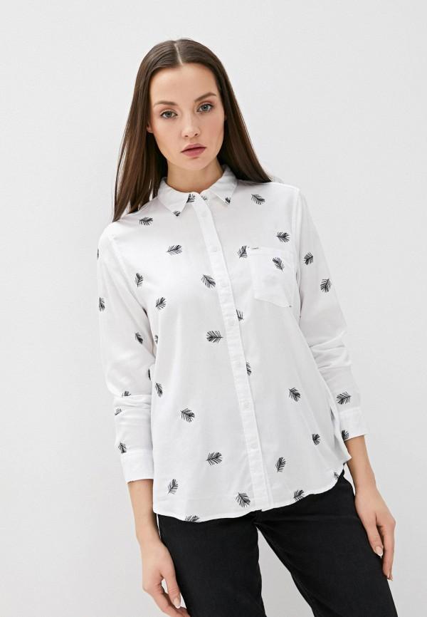 женская блузка с длинным рукавом lee, белая