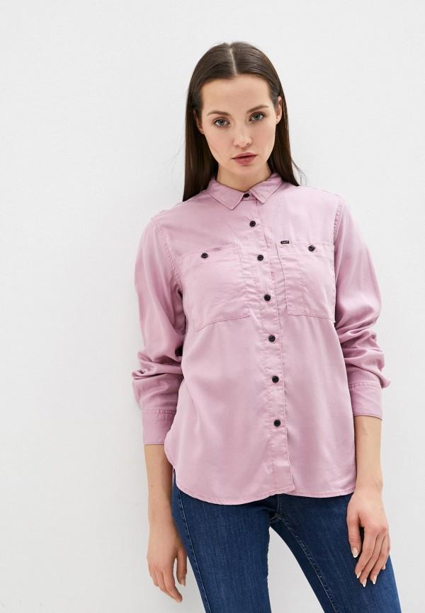 женская рубашка с длинным рукавом lee, фиолетовая