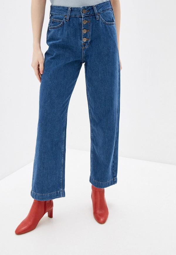 женские джинсы клеш lee, синие