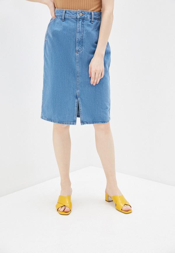 женская юбка мини lee, голубая