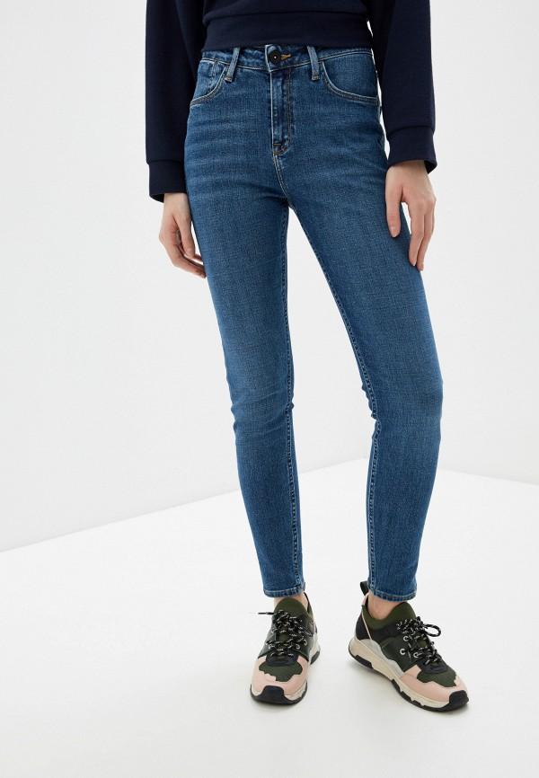 женские джинсы скинни lee, синие