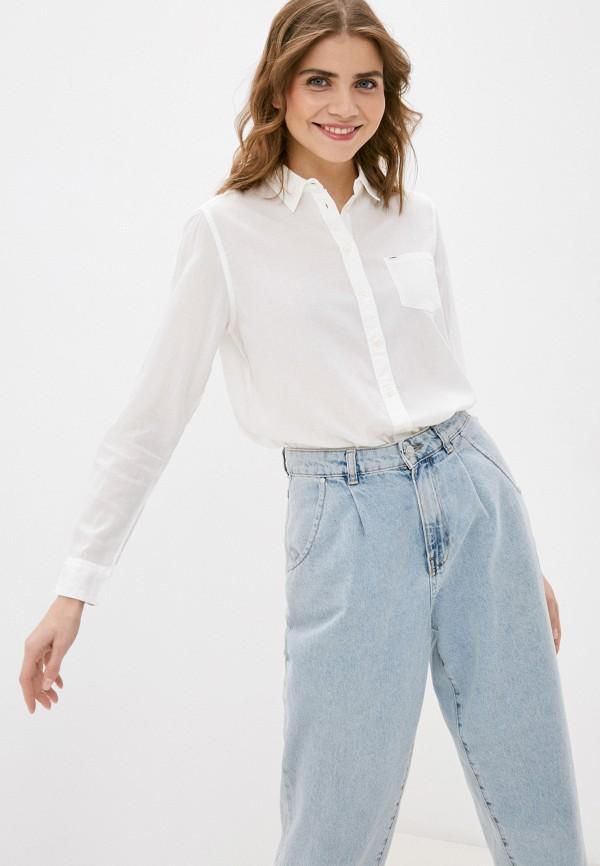 женская рубашка с длинным рукавом lee, белая