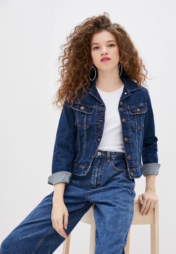 женская джинсовые куртка lee, синяя