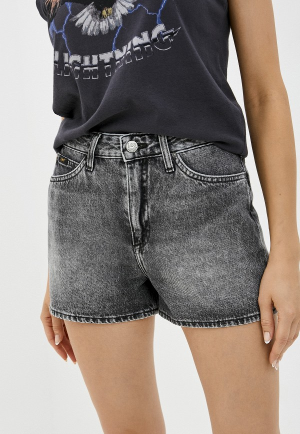 женские джинсовые шорты lee, серые