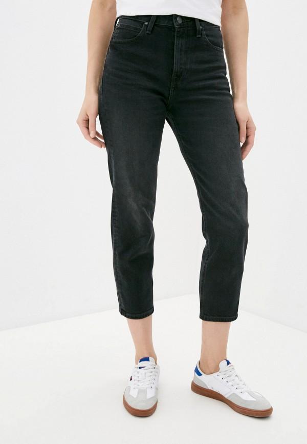 женские джинсы-мом lee, черные